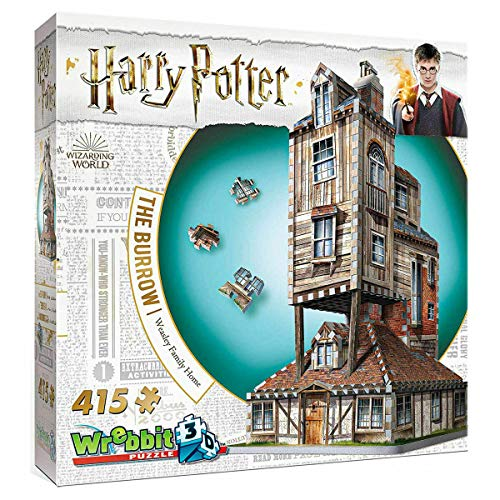 Kids 3D Jigsaw Puzzle (The Burrow Weasley's Family Home - Harry Potter)