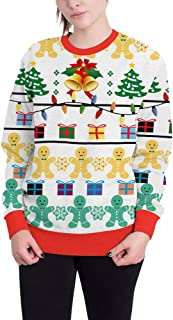 Morbuy Women Ugly Christmas Pullover Sweatshirts, Men Unisex Animal 3D Print Novelty Xmas Funny Jumpers Long Sleeve