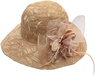 LUNIWEI Women's Hat Church Kentucky Derby Cap Bridal Tea Hats for Party Wedding