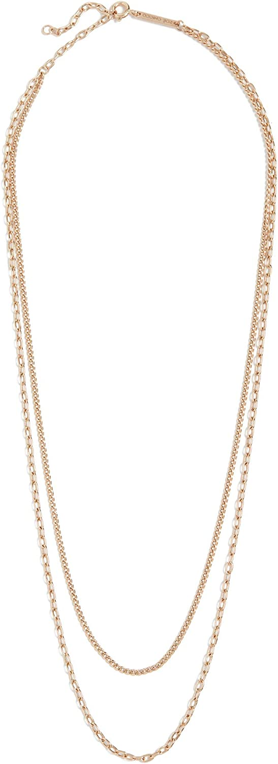 Zoe Chicco Women's ! Super beauty product restock quality top! 14k Gold Chain Necklace Fresno Mall Double