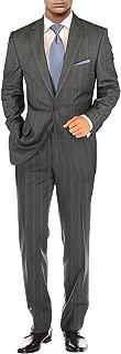 Salvatore Exte Men's Suit Modern Two Button 2 Piece Striped