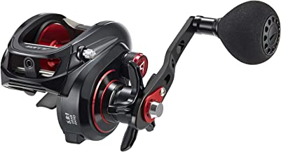 Piscifun Alijos Size 300 Baitcasting Reels Low Profile Baitcaster Aluminum Frame Baitcast Fishing Reel, 33lb Drag 5.9:1/8.1:1 Gear Ratio Freshwater Saltwater Power Handle Casting Reels