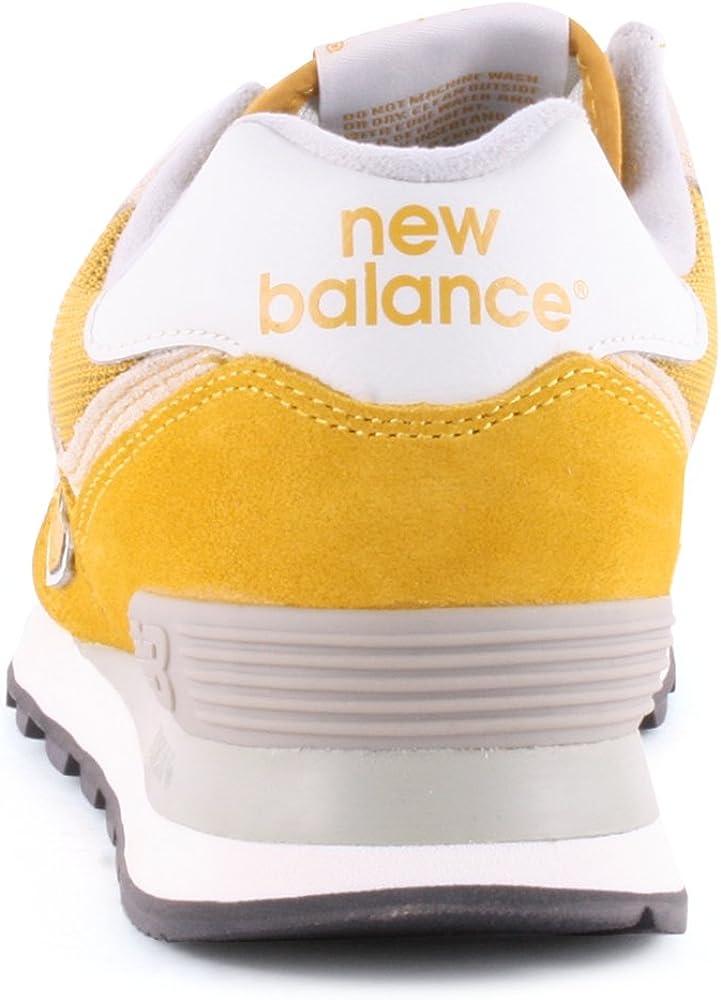 New Balance 574 Baskets pour femme - Jaune - Jaune moutarde ...
