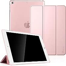 Fintie Coque pour iPad Air 2 2014 / iPad Air 2013 - SlimShell Etui Housse Case avec Support Ultra-Mince et léger avec Semi-Transparent Protecteur, Fonction Sommeil/Réveil Automatique, Or Rose