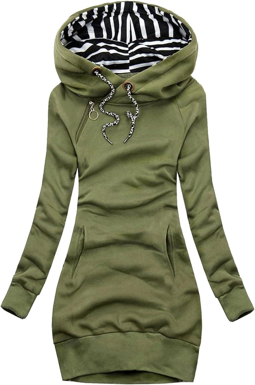 VonVonCo Pullover Sweaters for Women Fashion Floral Print Wear A Hat Jacket Zipper Pocket Sweatshirt Long Sleeve Coat