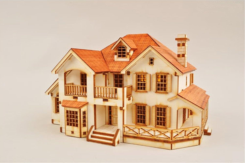 Desktop Wooden Model Kit Garden House C by Young Modeler