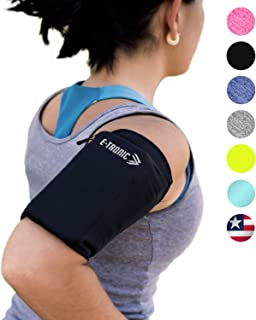 Phone Armband Sleeve: Best Running Sports Arm Band Strap Holder Pouch Case for Exercise..