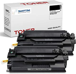 SMARTOMI - 2 Cartucho de tóner Negro de Alto Rendimiento Compatible con Cartuchos HP 26X CF226X 26A CF226A para impresoras HP Laserjet Pro M402dn M402n M402dne M402dw MFP M426dw M426fdn and M426fdw
