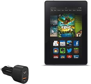 Carregador de carro para Kindle Fire HD 7 (2ª geração 2012), BoxWave [SwiftCharge PD QC4.0 Carregador para carro Plus (60...