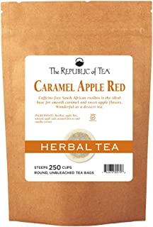 The Republic of Tea Caramel Apple Red Tea, 250 Tea Bags, Caffeine-Free Premium Rooibos Dessert Tea