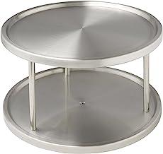 Wenko Carrousel Kast, 2 Legvlakken, Roestvrij Staal, Ø 26,5x15,5 cm, Zilver Mat