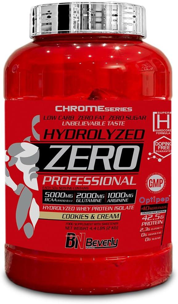 Beverly Nutrition Hydrolyzed Zero Professional Proteína Hidrolizada Sabor Galleta y Cream - 2000 gr