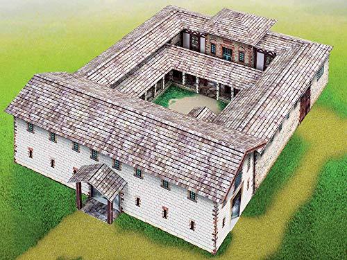 Forum Traiani Bastelbogen Principia römisches Stabsgebäude mit Praetorium Bastelvorlage römisches Kastell, Unterrichtsmaterial Rom, incl. kostenloser Bastelbogen Senator