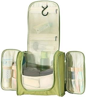 URBANANO Travel Multi Compartment Hanging Toiletry Bag Kits for Men, Women (Light Green)