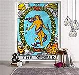 WERT Tarot Flagge Wandteppich Wandbehang Sonne Mond Astrologische Wahrsagerei Geheimnisvolle Wandteppiche Wohnkultur für Wohnheim Hintergr& Stoff A4 200x150cm