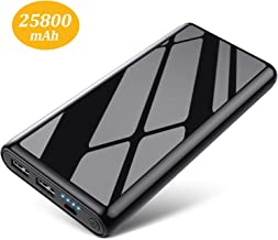 HETP Batterie Externe, 25800mah Power Bank【Design Anti-Rayures et Ultra Compact】 Charge Rapide Chargeur Portable 2 Ports USB Sortie Batterie de Secours pour iOS Android Smartphone Tablettes etc.