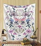 Tela de fondo psicodélico de mariposa simple tapiz de tela decorativa decoración del hogar tapiz de tarot revestimiento de pared a6 73x95 cm