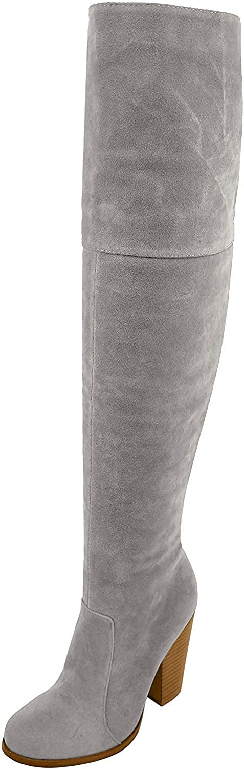 Chase Regular dealer Chloe Max-2 Women's Over Max 69% OFF The Knee Chunk High Thigh Suede
