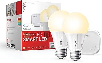 Sengled Smart light Bulb Starter Kit, Work with Alexa & Google Home, Support 2.4G&5G, A19 Alexa Light Bulbs, Smart LED Sof...