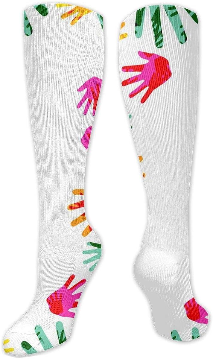Hand Pattern Knee High Socks Leg Warmer Dresses Long Boot Stockings For Womens Cosplay Daily Wear
