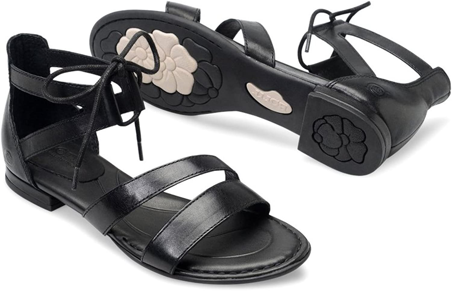 B.O.C. Womens Casma Leather Open Toe Casual Ankle Strap Sandals