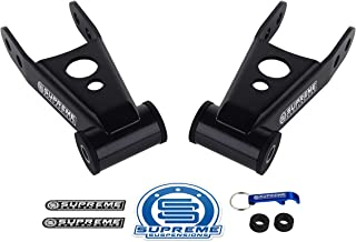 "Supreme Suspensions - Rear Lowering Kit for 1995-1999 Chevy Tahoe 2"" Rear High-Strength Steel Drop Shackles 2WD 4WD"