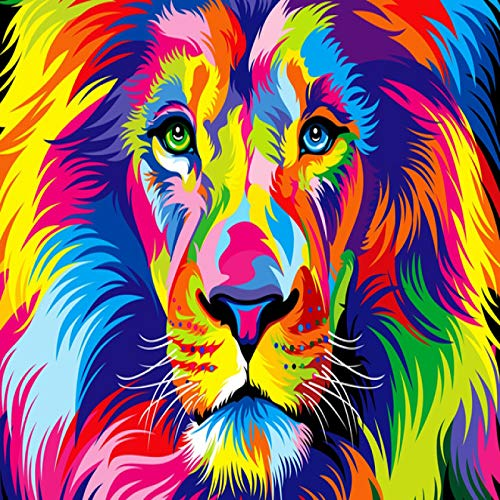 MHBY Rompecabezas de Piezas, Rompecabezas de león de Colores, Rompecabezas de Madera para Adultos, Juegos creativos de Rompecabezas para niños, Juguete de Regalo de Madera