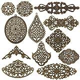 PandaHall Lot de 120 connecteurs en filigrane bronze antique
