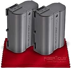 Nikon EN-EL15a Rechargeable Lithium-Ion Battery (Compatible w/Nikon D750, D7000, D7100, D7200, D7500, D800, D800E, D810, D810A, D850, D610, D500 and D500) + Fibertique Microfiber Cleaning Cloth