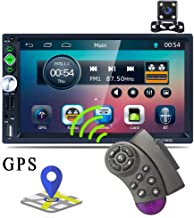 Double Din GPS Car Stereo Radio 7'' TFT Capacitance Touch Screen Car MP5 Player with Bluetooth GPS FM AM RDS Radio Receiver Support Rear Camera