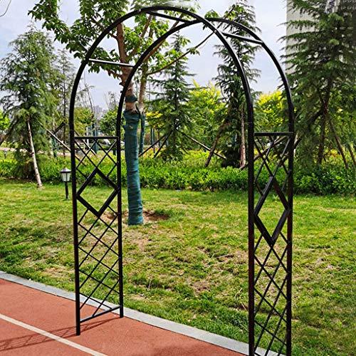 QLLL Pérgola de Adorno de Boda con Arco de Rosas de Arte de Hierro Grande para Jardin, Patio, para Trepar Enrejado de Plantas de Rosas