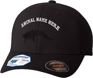 Custom Flexfit Baseball Cap Catfish B Embroidery Animal Name Polyester Hat