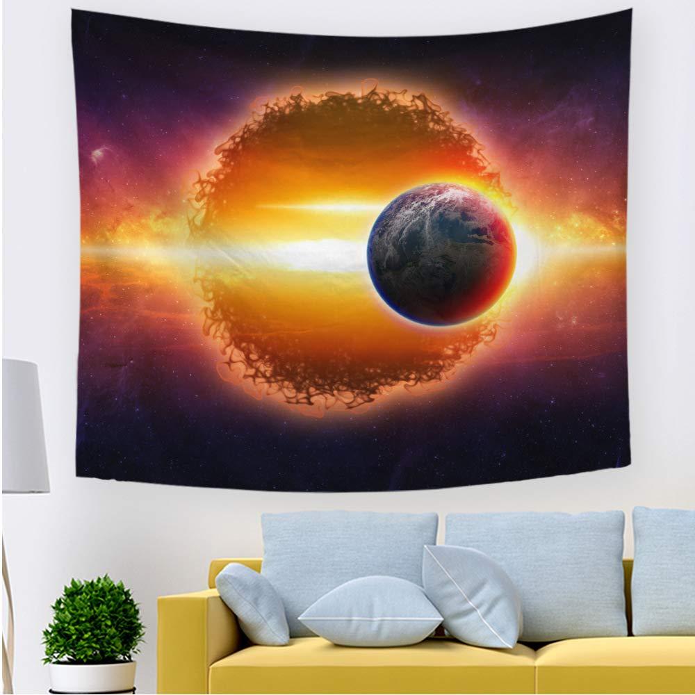 01,S ZYBC /Étoile Ciel Galaxie Tapisserie Murale Lune Etoiles Tapisserie Mur Tentures D/écoratives Murales pour Chambre denfants