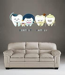 StickersForLife cik513 Full Color Wall Decal Teeth Family Dentist Dental Hospital Clinic