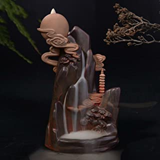 Spie Backflow Incense Burner Aroma Furnace Ceramic Colorful Clouds Moon Decoration