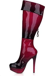 Best 4U Stivali Autunnali da Donna 9.8CM Tacco Alto Stivali