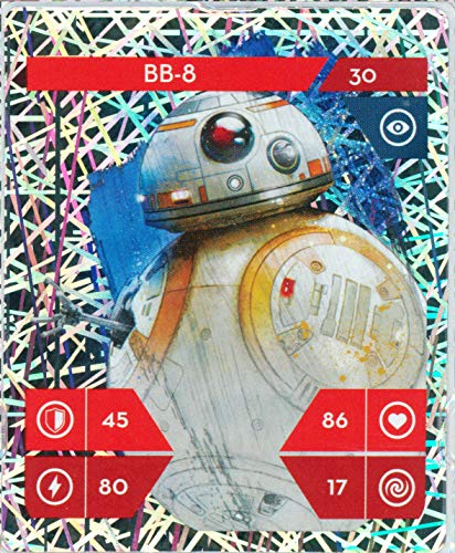 Álbum de cartas coleccionables de Star Wars con pegatinas Wizuals (30-BB-8-30-Glitzer)