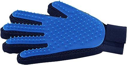 Pet Hair Remover Glove - Gentle Pet Grooming Glove Brush - Deshedding Glove - Massage Mitt with Enhanced Five Finger Desig...
