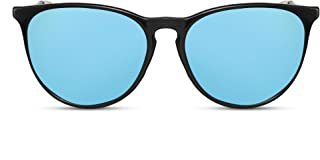 Cheapass - Gafas de Sol Negro Lentes Redondos Marrón Leo Vintage Mujer Hombre
