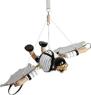 Wupper Airlines Wooden Hanging Vintage Bouncing Flying Man