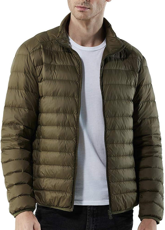 Ximandi Winter, Men's Winter Solid Nylon Zipped Coat CottonPadded Jackets
