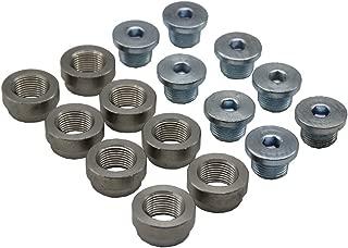 LEDAUT M18X1.5 O2 Oxygen Sensor Bung And Plug Kits (8 Bungs/ 8 Plugs) Oxygen Sensor Fittings Weld Bung Universal Fit ¡