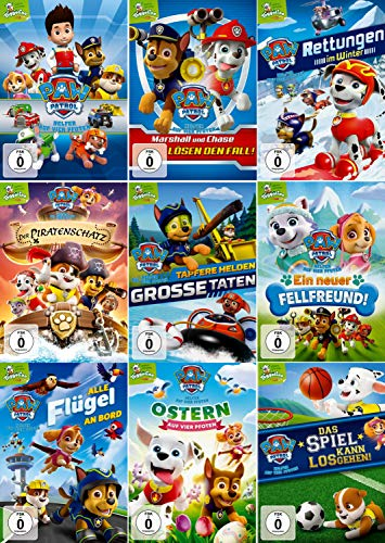 Paw Patrol - Volume 1-9 (Nickelodeon) im Set - Deutsche Originalware [9 DVDs]