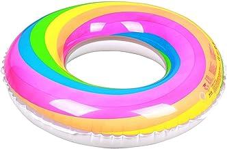 Zwemring Regenboog Opblaasbare Zwemring Opblaasbare Regenboog Luchtbed Zwembad Floatie Voor Volwassenen & Kinderen Party, ...