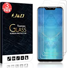 J&D Compatible for 3-Pack Huawei Mate 20 Lite Glass Screen Protector, [Tempered Glass] [Not Full Coverage] HD Clear Ballistic Glass Screen Protector for Huawei Mate 20 Lite Screen Protector
