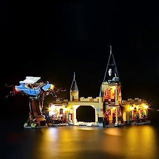 طقم إضاءة ليد من بريكسماكس لهاري بوتر وذا تشام أوف سيكريتس هوغوورتس ويلينغ ويلو - . 75953 نموذج مكعبات البناء - لا يشمل مج...
