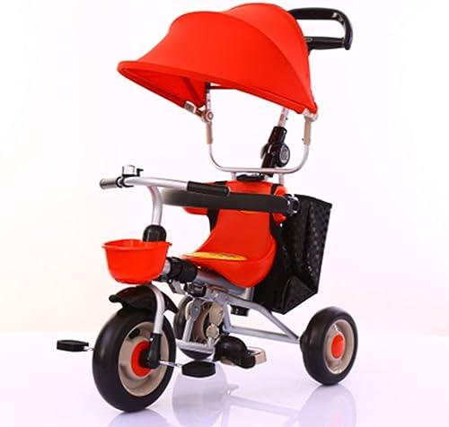 salida de fábrica Triciclos Triciclos Triciclos Niños Bicicleta de 1 a 5 años Carrito de bebé Carrito de Niños Bicicleta Trike Niños 3 Ruedas ( Color   rojo )  cómodamente