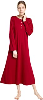 Image of Christmas Red Long Nightgown for Women