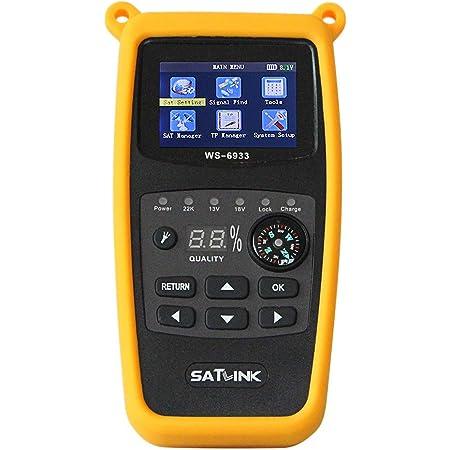 Buscador de satélites Digital Satlink WS-6933 HD DVB-S para Acampada + Aparato de medición EUDVB-S2 8PSK Sat