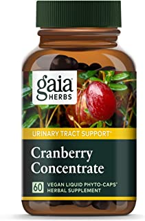 Gaia Herbs Cranberry Concentrate, Vegan Liquid Capsules, 60 Count - Supports Urinary Tract Health, Cranberry Pills from Or...